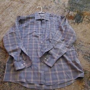 Men's Plaid Button up Dress Shirt
